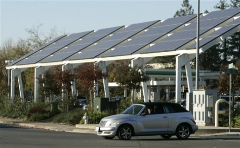 Image: Solar panels in California