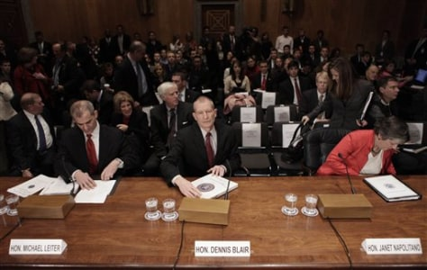 Image: Officials at terror hearing