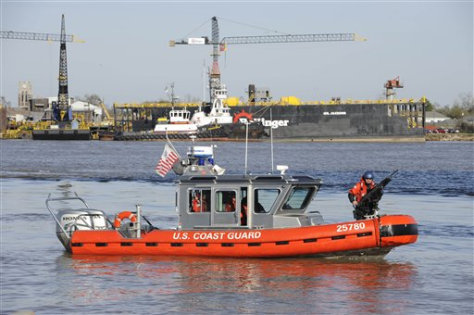 Image: A Coast Guard boat on patrol