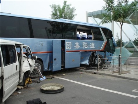 Image: Olympic bus crash