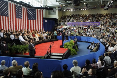 Image: President Obama holds a town hall