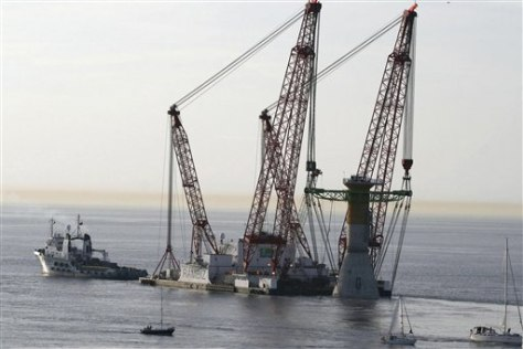 Image: Pillar for offshore wind farm