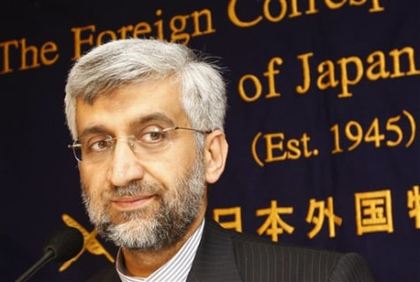 Image: Iran's top nuclear negotiator Saeed Jalili