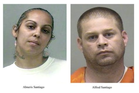 Image: Abneris Santiago, 30, left, and Alfred Santiago, 37