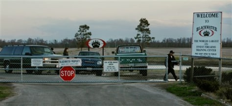 Image: Entrance to the Blackwater Security Consulting Firearms Training Center