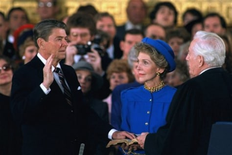 Image: Ronald Reagan re-enacted 1985 swearing-in
