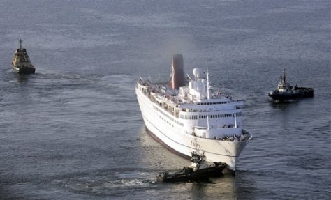 IMAGE: Stranded Cruise Ship