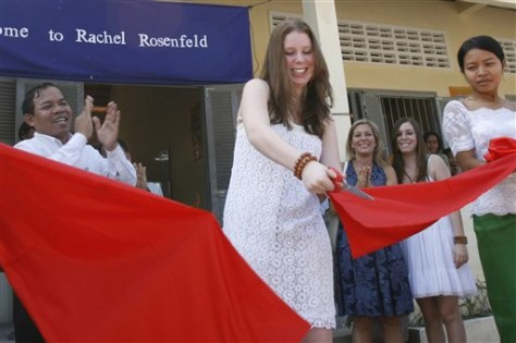 Image: Teen opens school in Cambodia