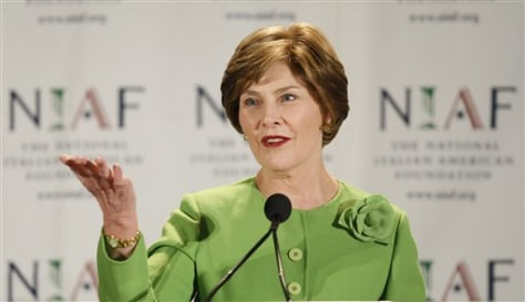 IMAGE: First lady Laura Bush