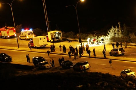 Image: Site of bomb targeting Israeli convoy