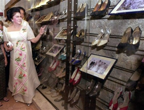 Image: Imelda Marcos with shoes