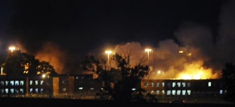 Image: Fires burn at Kentucky prison