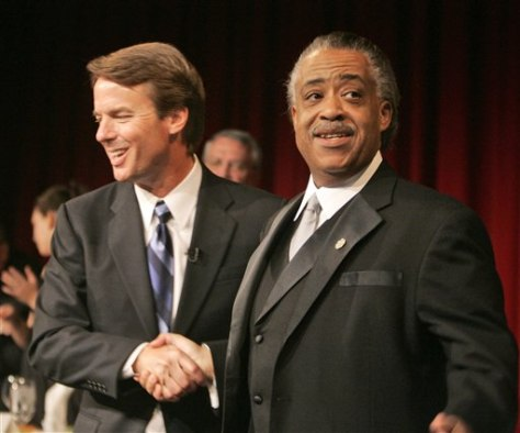 Campaign 2008 John Edwards and Al Sharpton