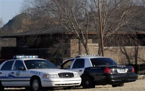 Image: Police outside Ark. medical board