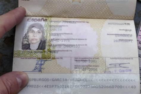 Image: The passport of Spanish citizen Raquel Burgos Garcia