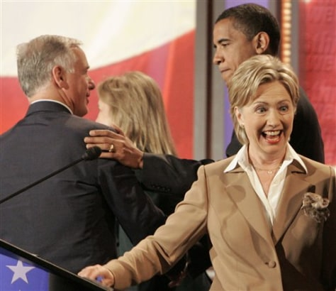 IMAGE: Sens. Hillary Rodham Clinton and Barack Obama D-Ill.