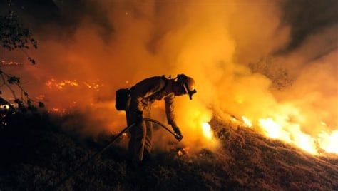 Image: Fire near Santa Barbara, Calif.