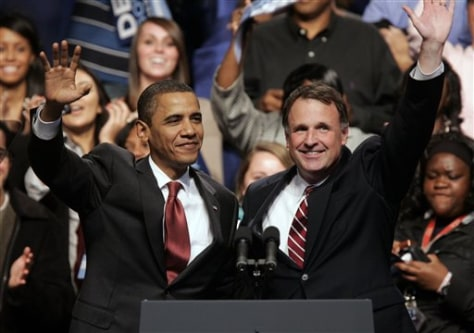Image: President Barack Obama and Virginia Democratic gubernatorial candidate Creigh Deeds