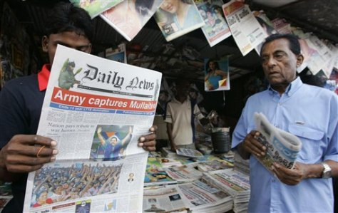 Image: Sri Lankan newspaper