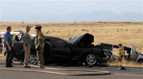 Image: Crash near Roswell, N.M.
