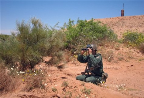 Image: On patrol in Algeria
