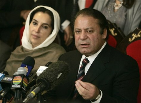 IMAGE: BHUTTO AND SHARIF