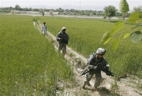 Image: U.S. troops in Afghanistan.