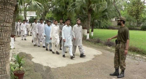 Image: Students rescued by Pakistan's army