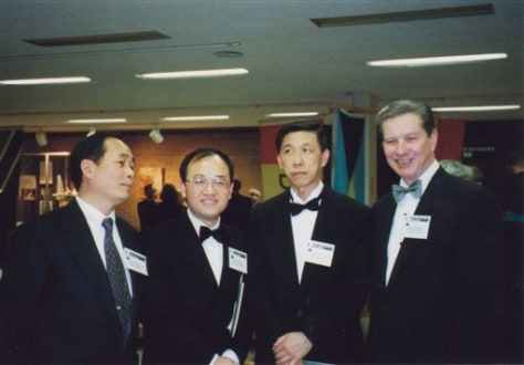 Image: Hu Zhicheng, second from left