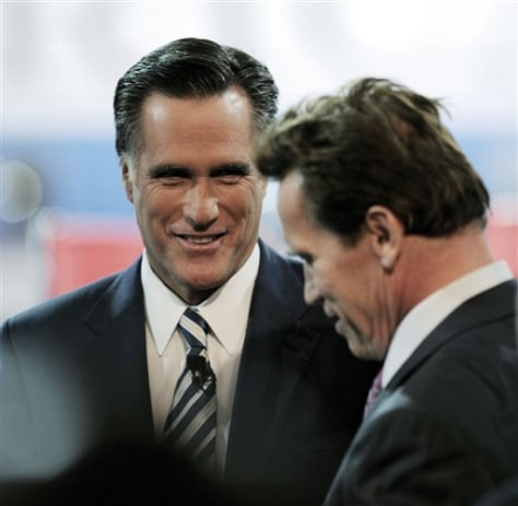 Image: Mitt Romney and Arnold Schwarzenegger