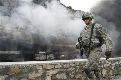 Image: U.S. soldier outside Jalalabad, Afghanistan