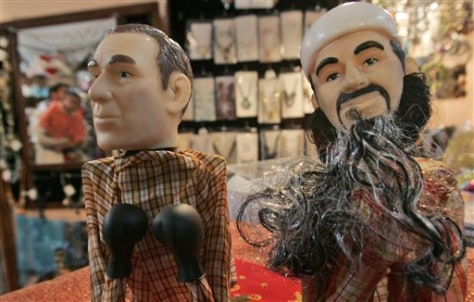Image: Bush and bin Laden puppets