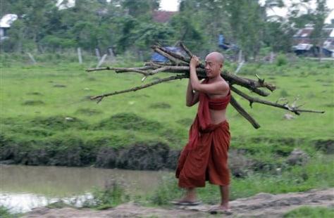 Image: Myanmar Buddhist monk