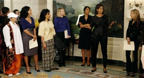 Image: Michelle Obama and other accomplished women.
