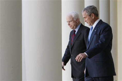 Image: John McCain and George Bush