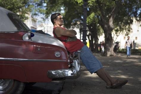 Image: Cuban taxi driver