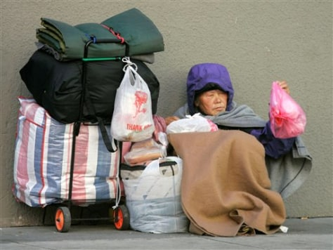 Image: Homeless woman in San Francisco