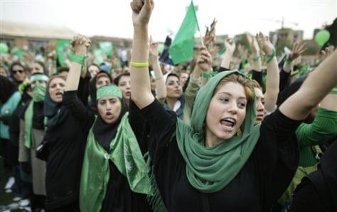 Image: Iranian women protest election