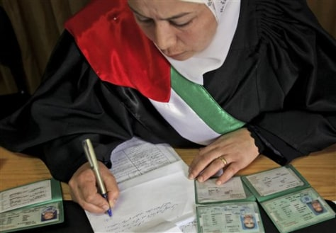 Image: Female Islamic court judge