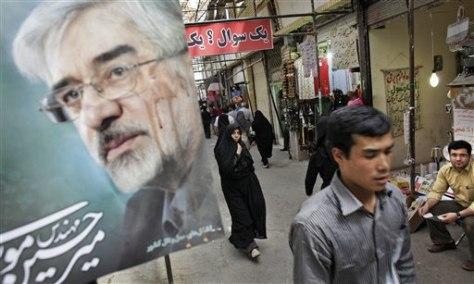 Image: Mousavi poster in Tehran
