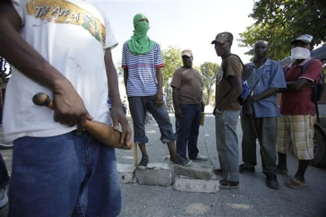 Image: Men in Leogane, Haiti