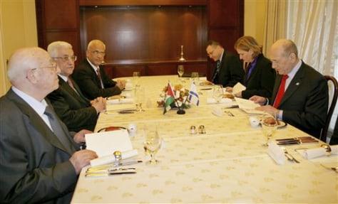Image: Israeli-Palestinian summit