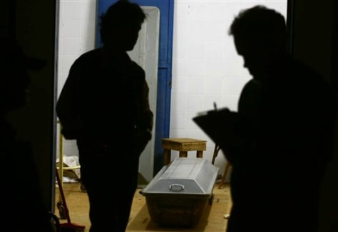 Image: Tony Harris' coffin