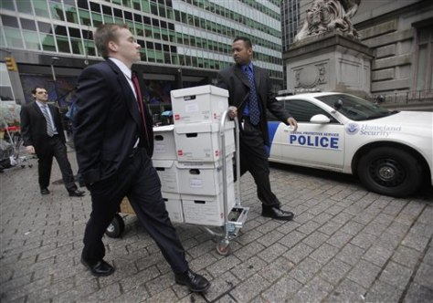 Image: Documents being moved