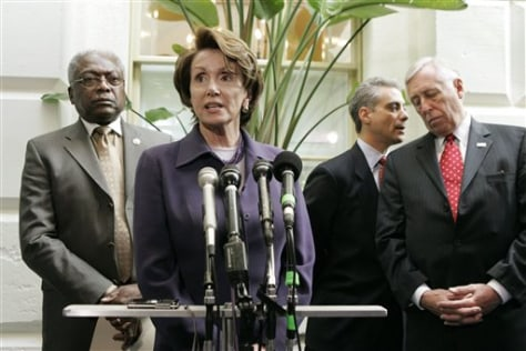 Reps. Pelosi, Clyburn, Emanuel and Hoyer
