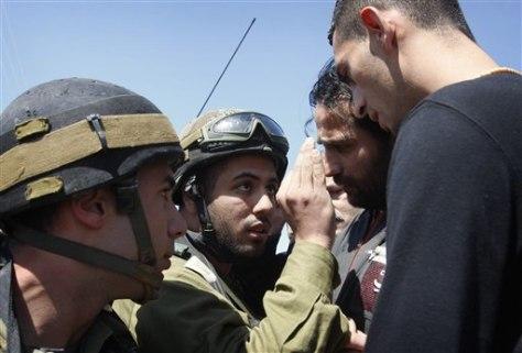 Image: Israeli soldiers, Palestinians