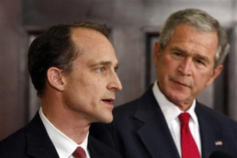 IMAGE: George W. Bush and Steve Preston