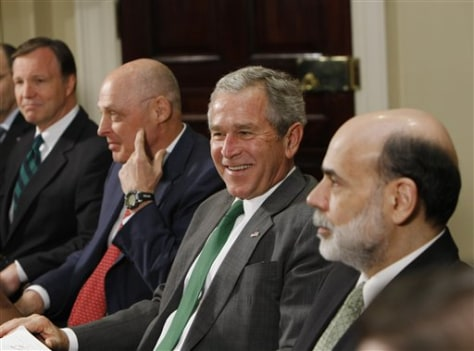 Image: Bush with advisers