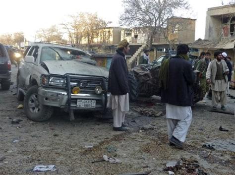 Image: Blast site in Gardez