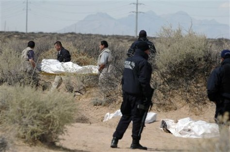 Investigation into discovery of bodies on outskirts of Mexican border.